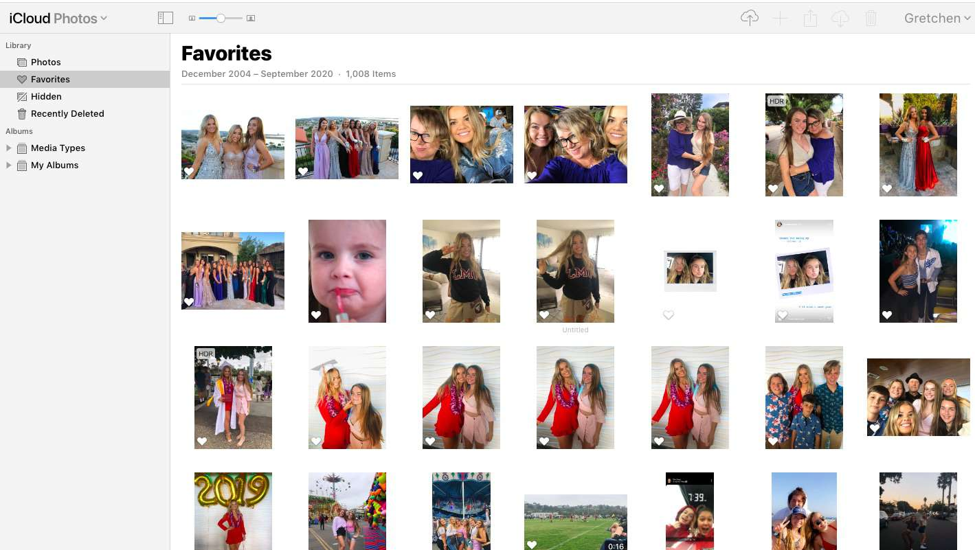 Apple iCloud Photos for photo and video sharing