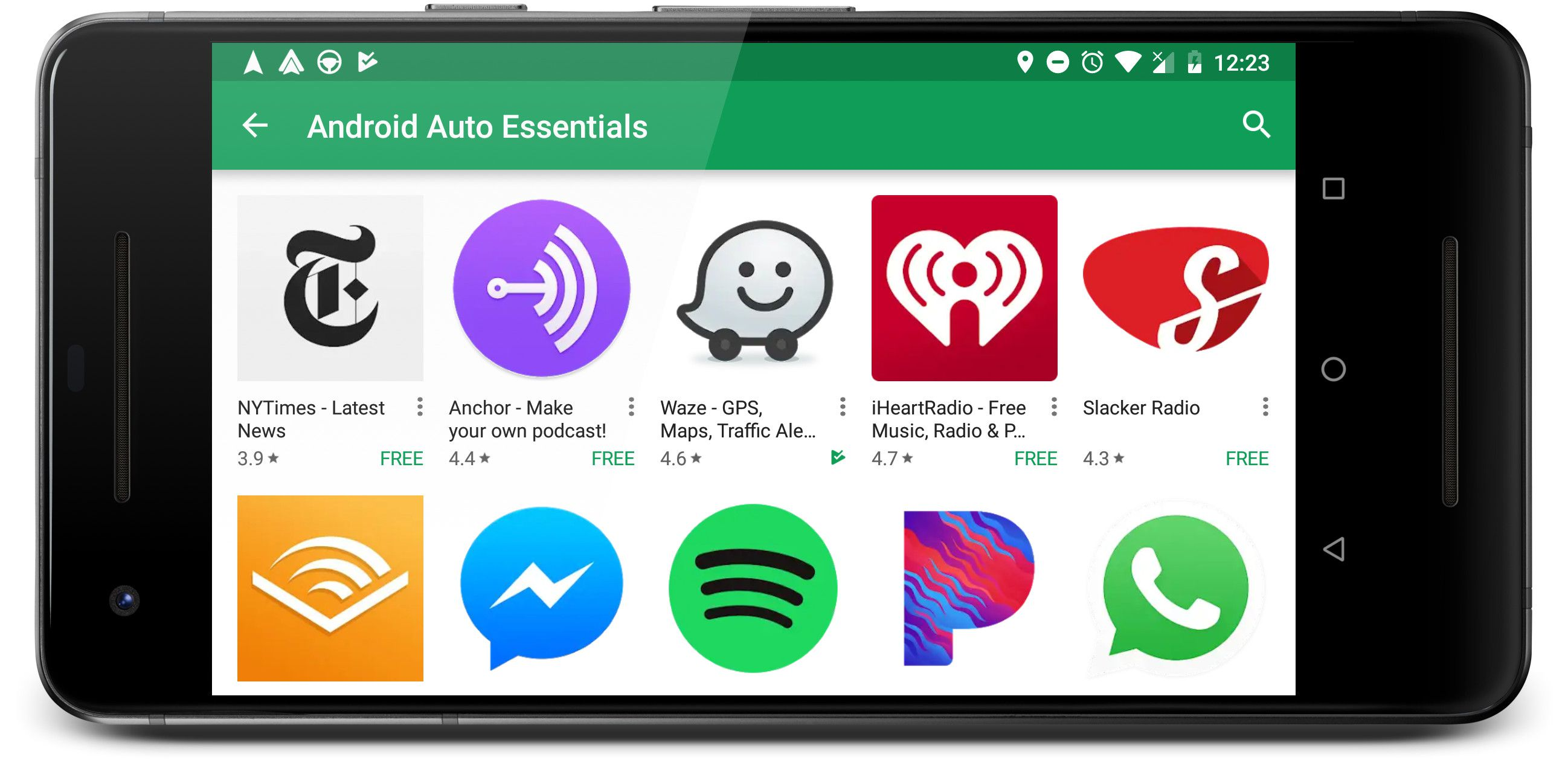 android auto music apps