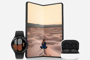 Samsung Galaxy ZFold 3 with Galaxy Watch 4 and Galaxy Buds 2