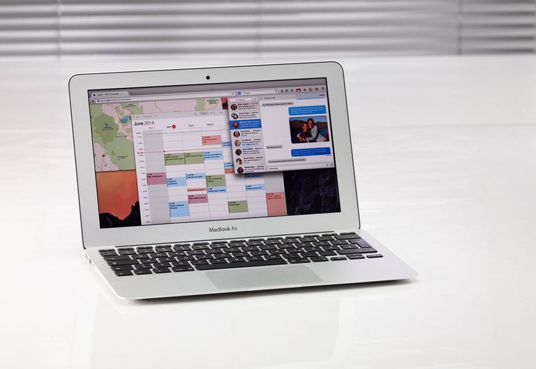 Mac OS X Yosemite on a MacBook Air computer