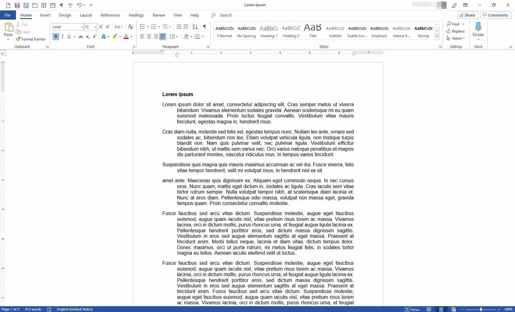 MS Word with all paragraphs using a hanging indent