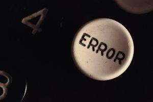 Close-Up Of Calculator Error Key