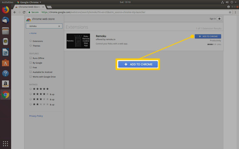 Remoku App Page Chrome