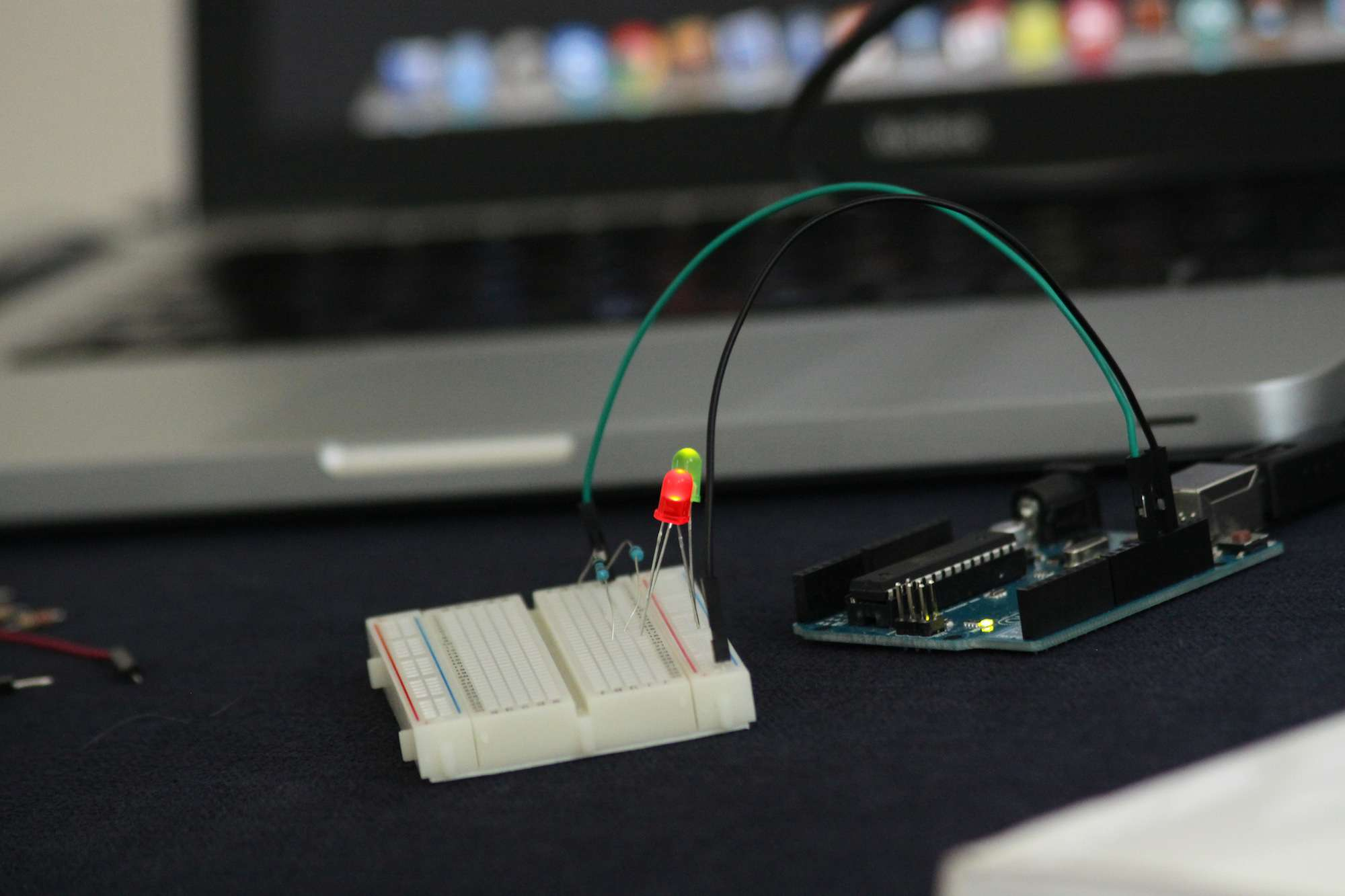 Close-Up Of Arduino On Table