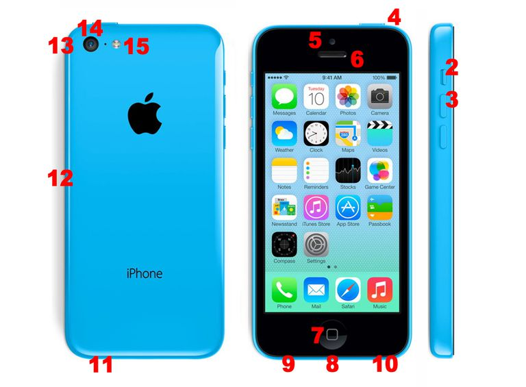 iphone 5C hardware features