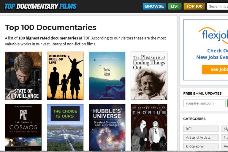 Top 100 documentaries at Top Documentary Films