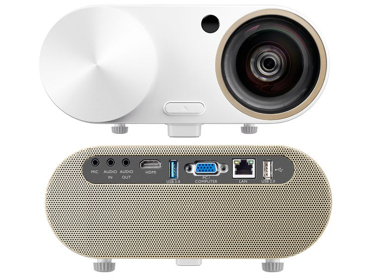 BenQ i500 Smart Video Projector - Front and Rear Views