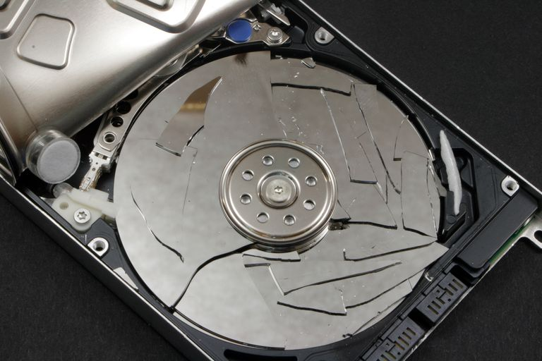 cracked hard drive