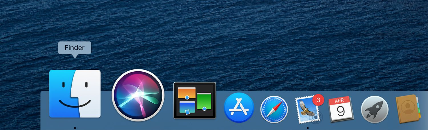Finder icon on the Mac Dock