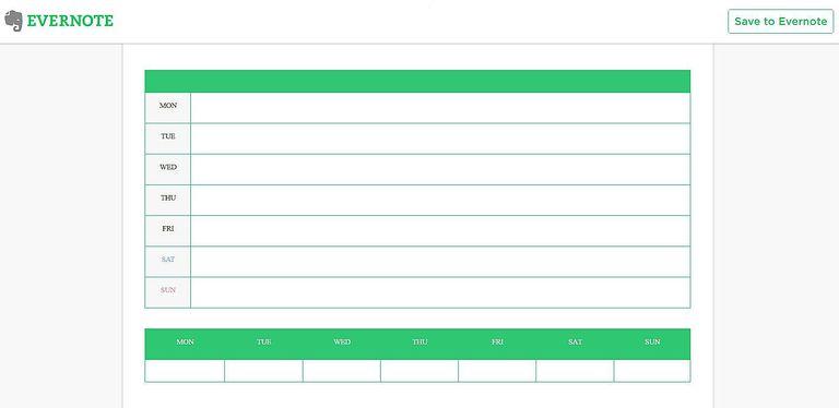 Evernote calendar tricks and templates for your new year evernote weekly calendar template for your digital note system maxwellsz