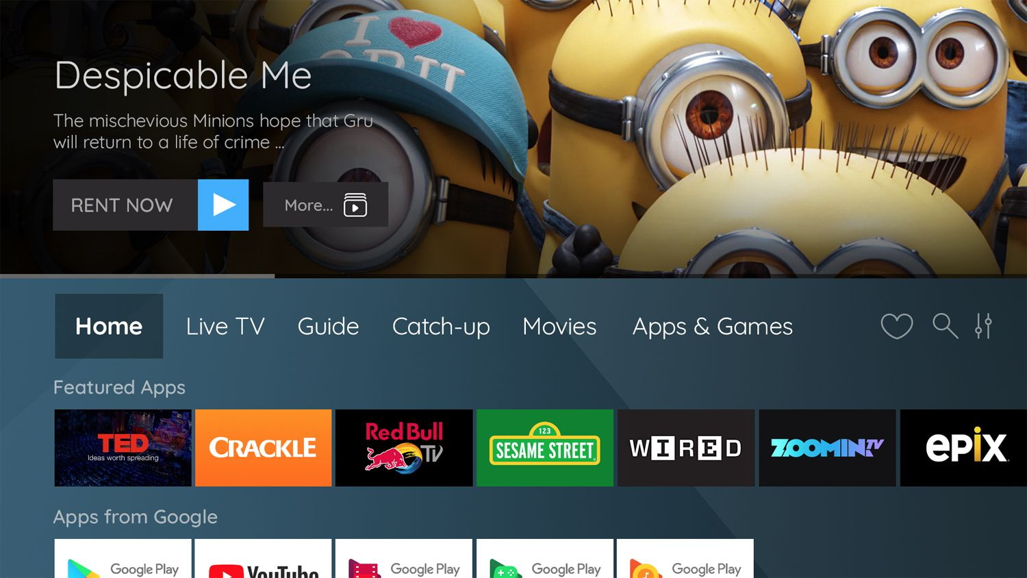 Vewd on Android TV