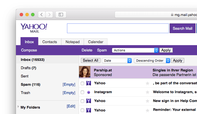 Access Your Yahoo Mail Account With Email Program Using Imap