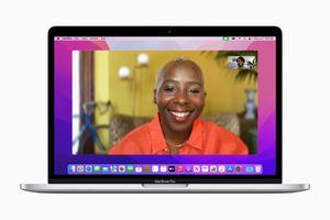 FaceTime in portrait mode on macOS Monterey.