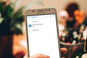 Printing settings on Samsung Galaxy 6s