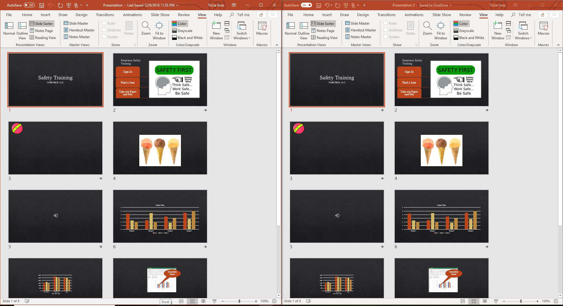 View Two PowerPoint Presentations at the Same Time