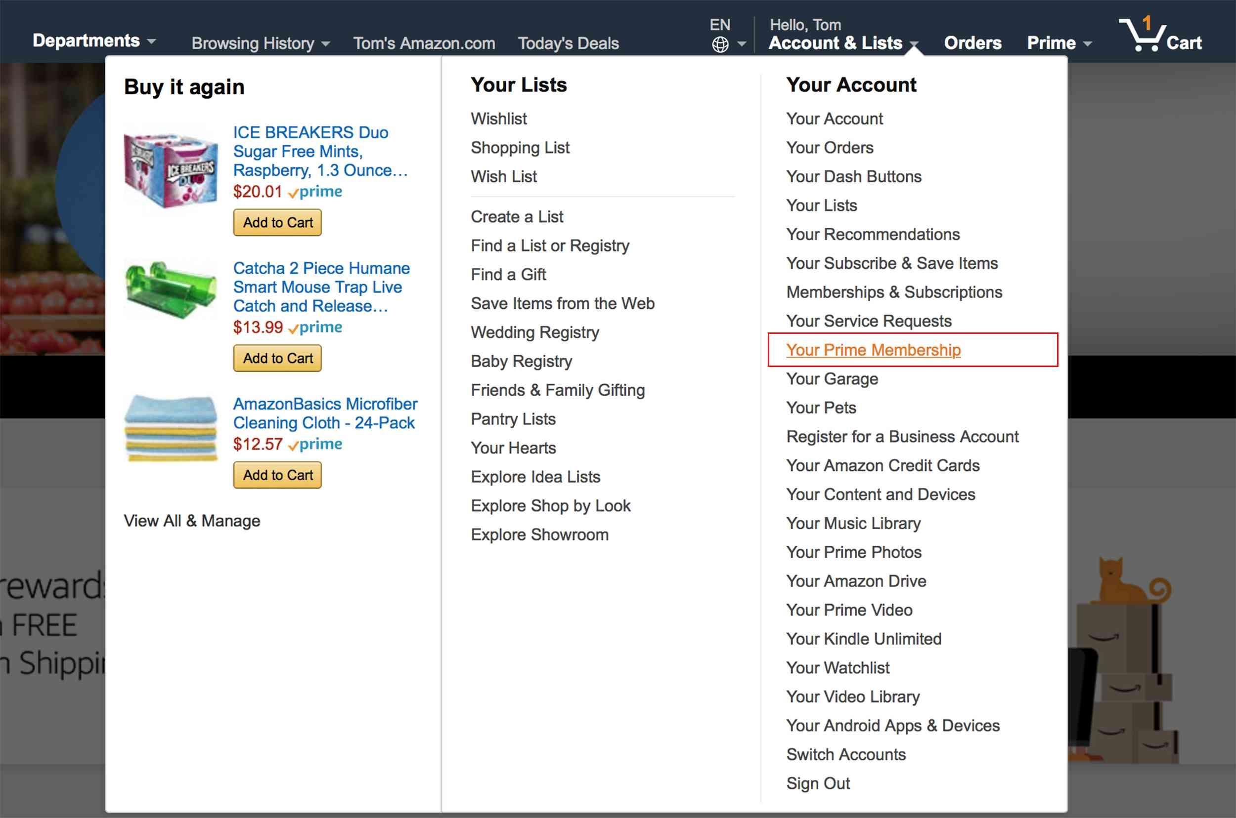 Amazon Account List