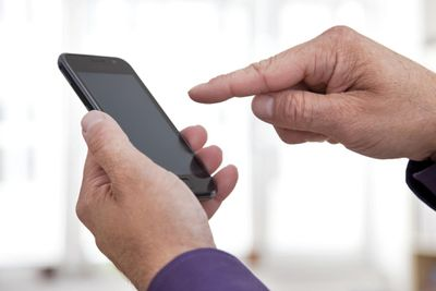 Man With Mobile Smart Phone
