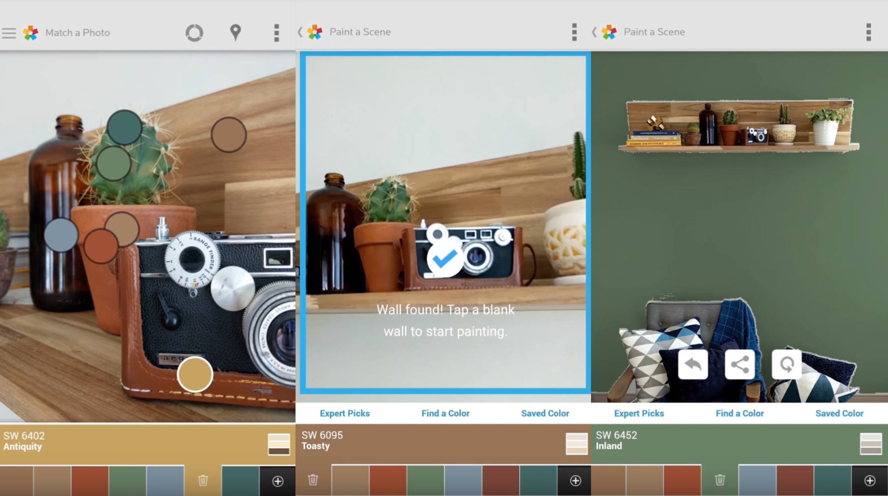 ColorSnap Visualizer app on Android and iOS.