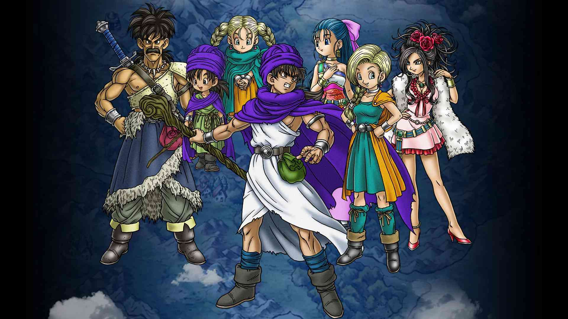 Character concept art from Dragon Quest V