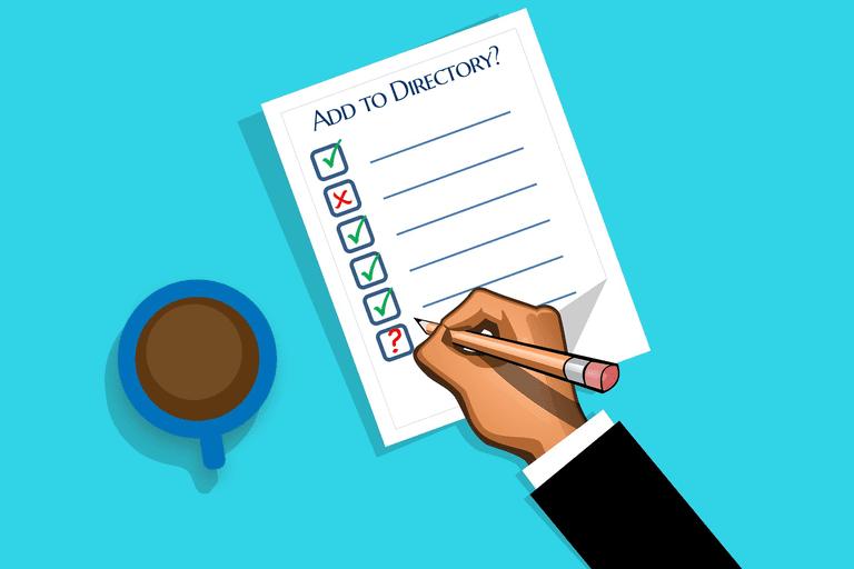 Add to directory checklist illustration