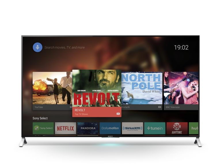 Android TV running on a Sony Bravia TV