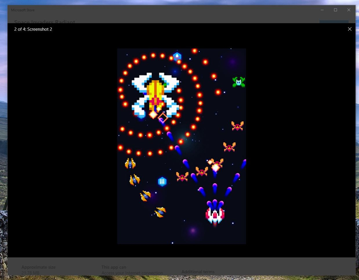 Space Invaders Radiant in Microsoft Store