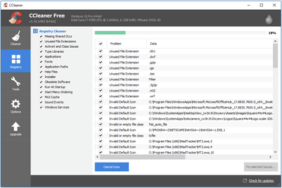 Screenshot of CCleaner v5.42.6495 n Windows 10