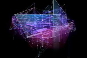 Digital rendering of architecture