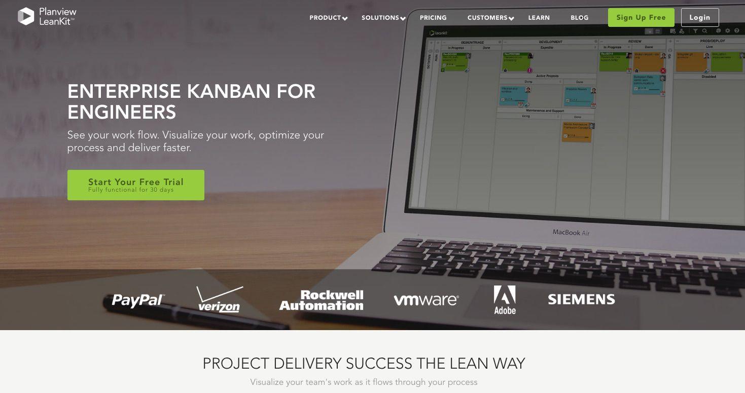 LeanKit Kanban website