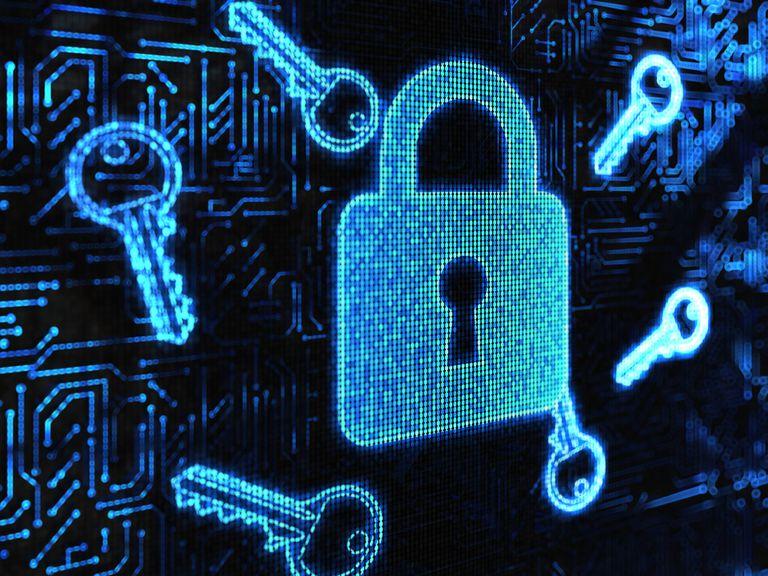 Digital illustration of lock and keys