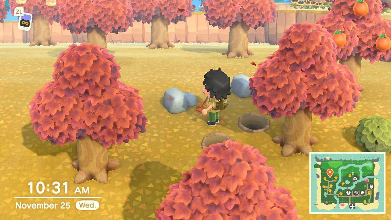 Animal Crossing character performs shovel trick