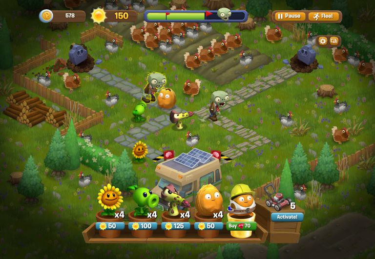 Plants Vs Zombies Screen