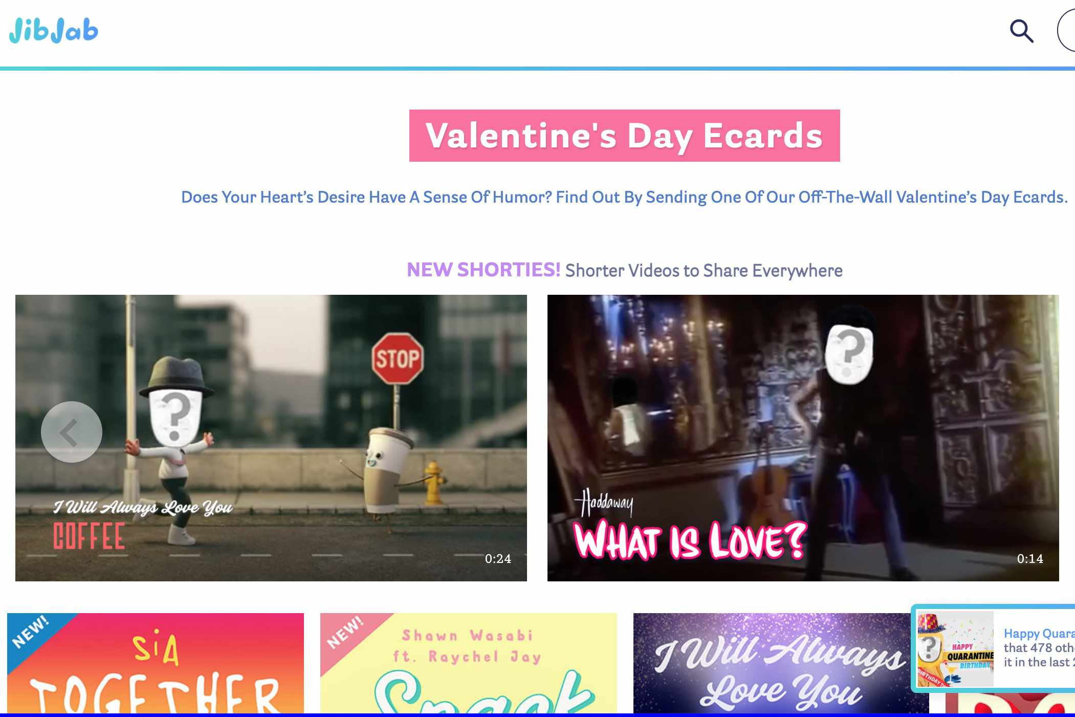 Jib Jab Valentine's Day Ecards