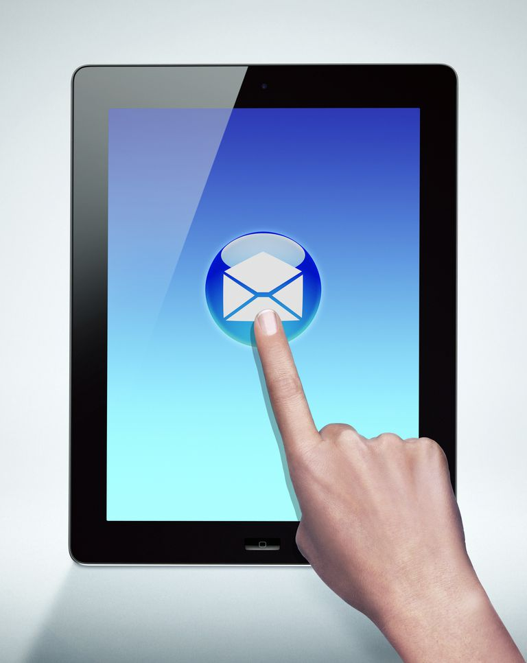 ipad email web page