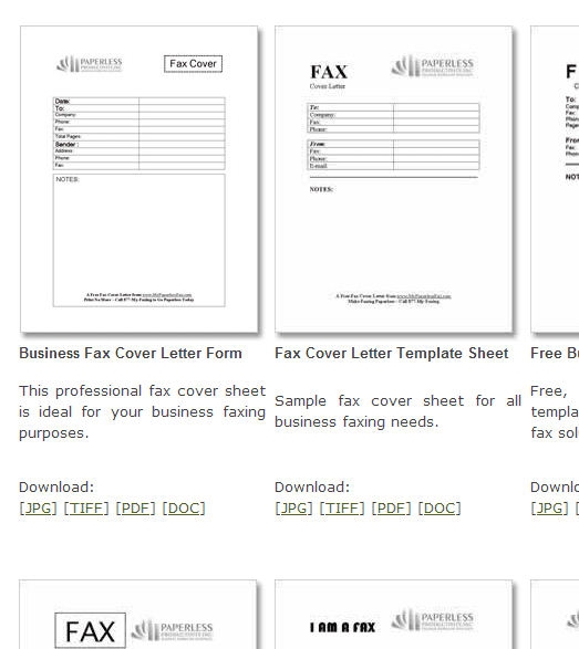 Free fax cover sheet templates my paperless fax collection wajeb Images