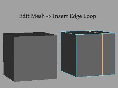 Maya's Insert Edge Loop Tool