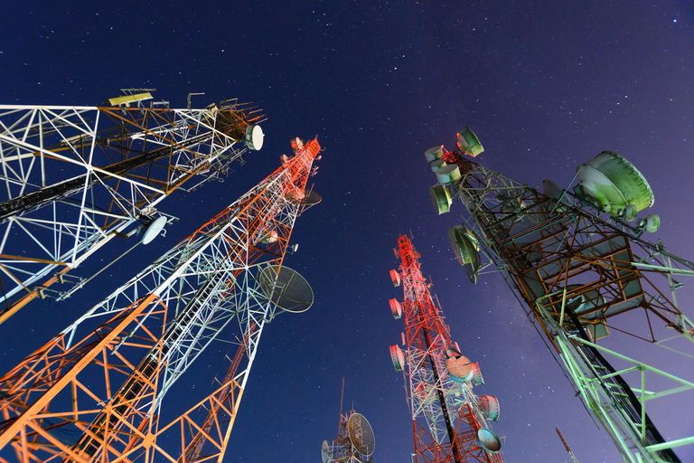 TV Transmitters and Communications Towers