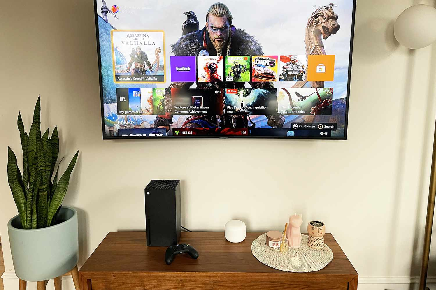 Xbox Series X and TV