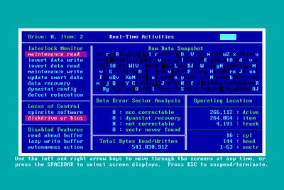 Screenshot of SpinRite 6.0
