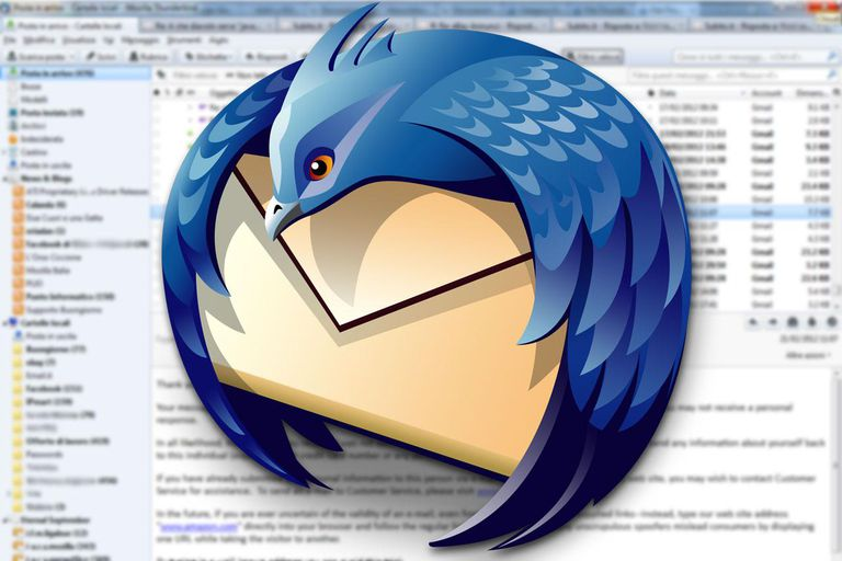 The Mozilla Thunderbird logo.