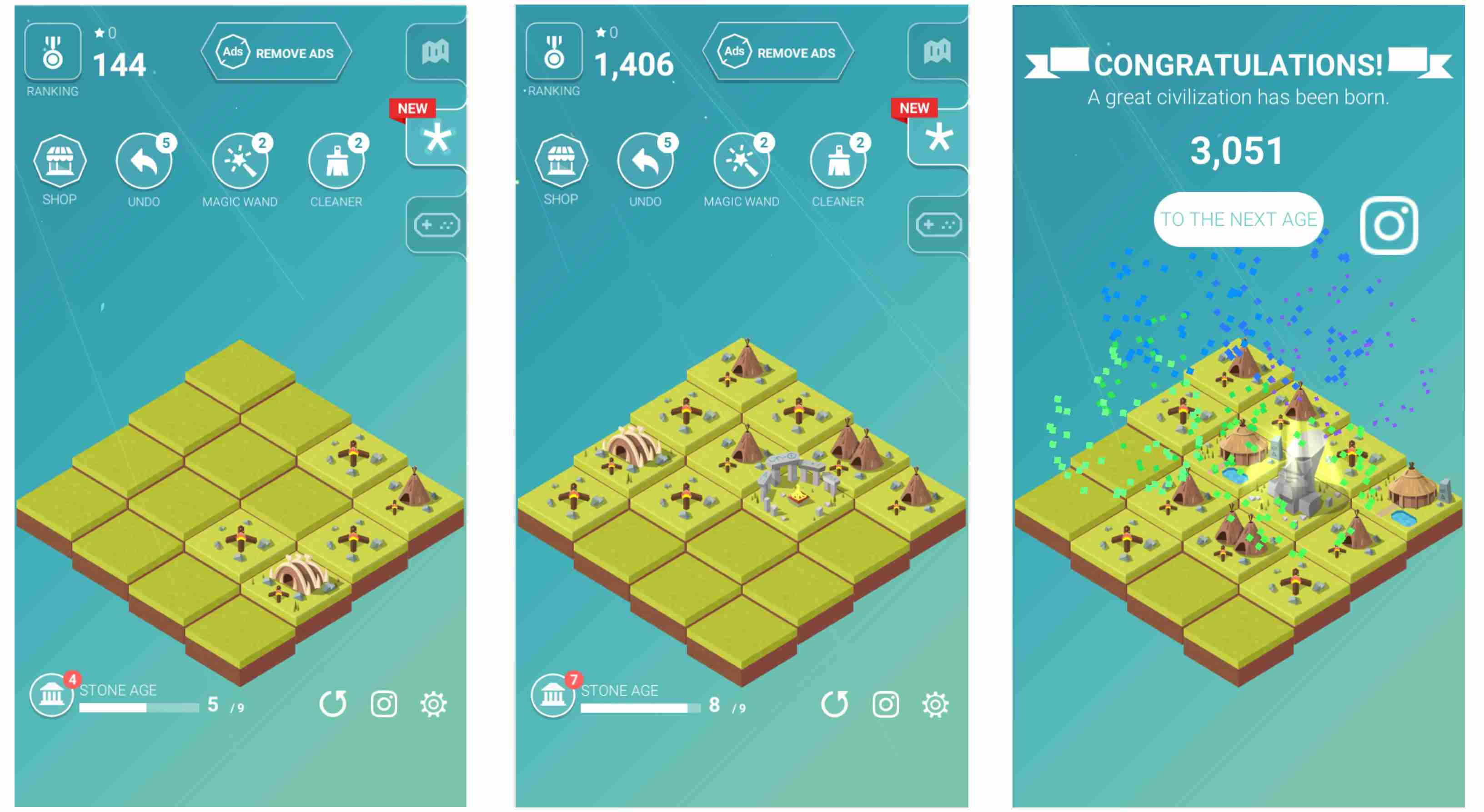 A player builds up their civilization in Age of 2048