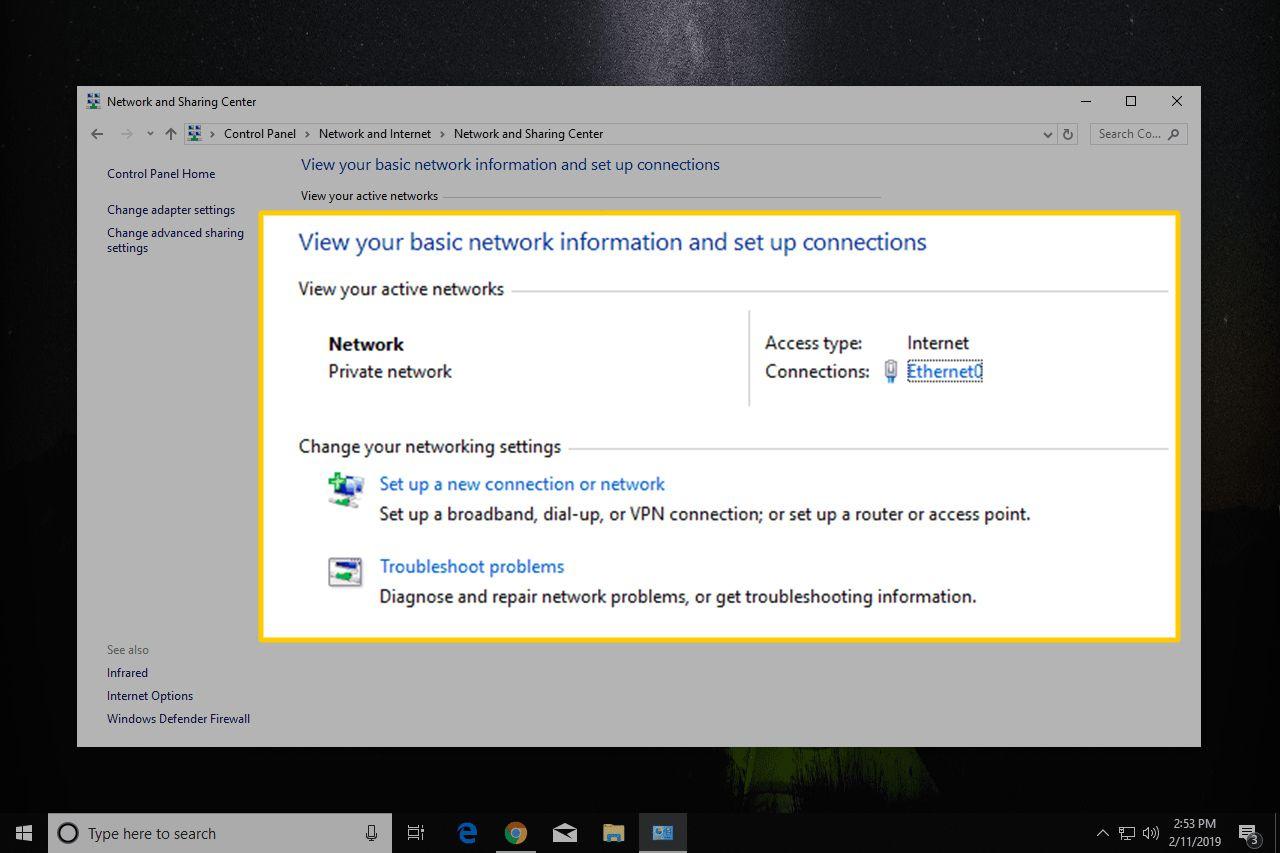 Basic network configuration in Windows