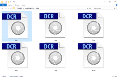 DCR files in a folder
