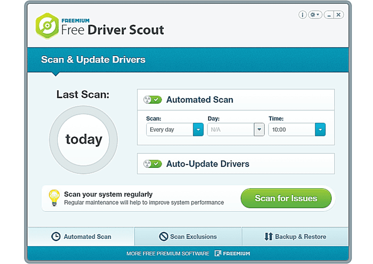 Free Driver Scout in Windows 8