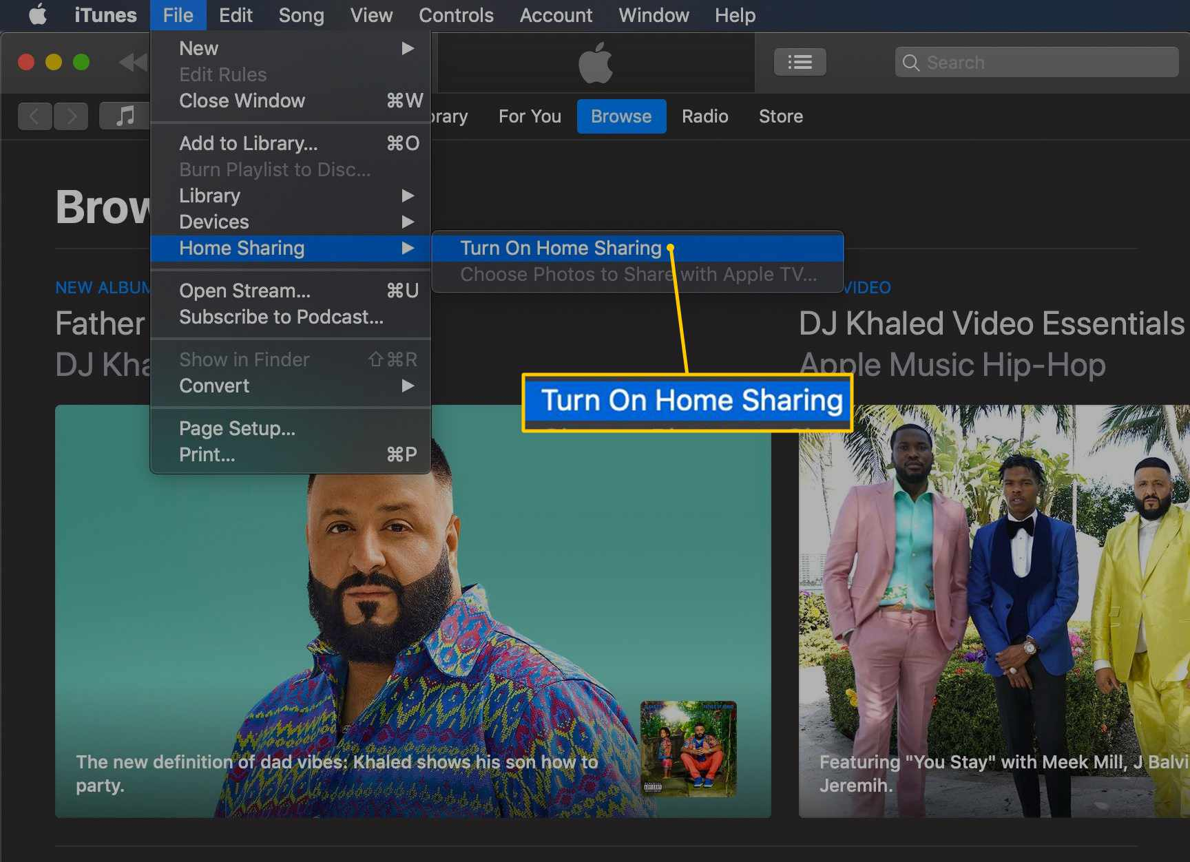 How to Set Up and Use Home Sharing in iTunes