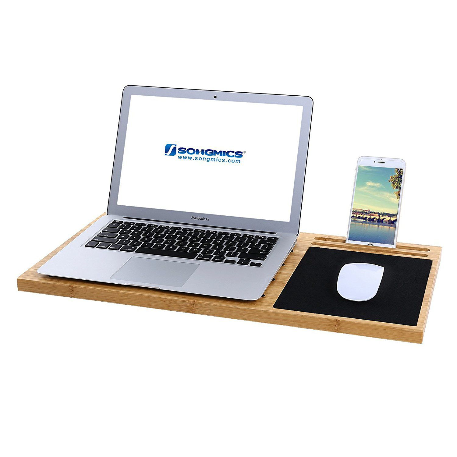 Mics Bamboo Lap Desk Board
