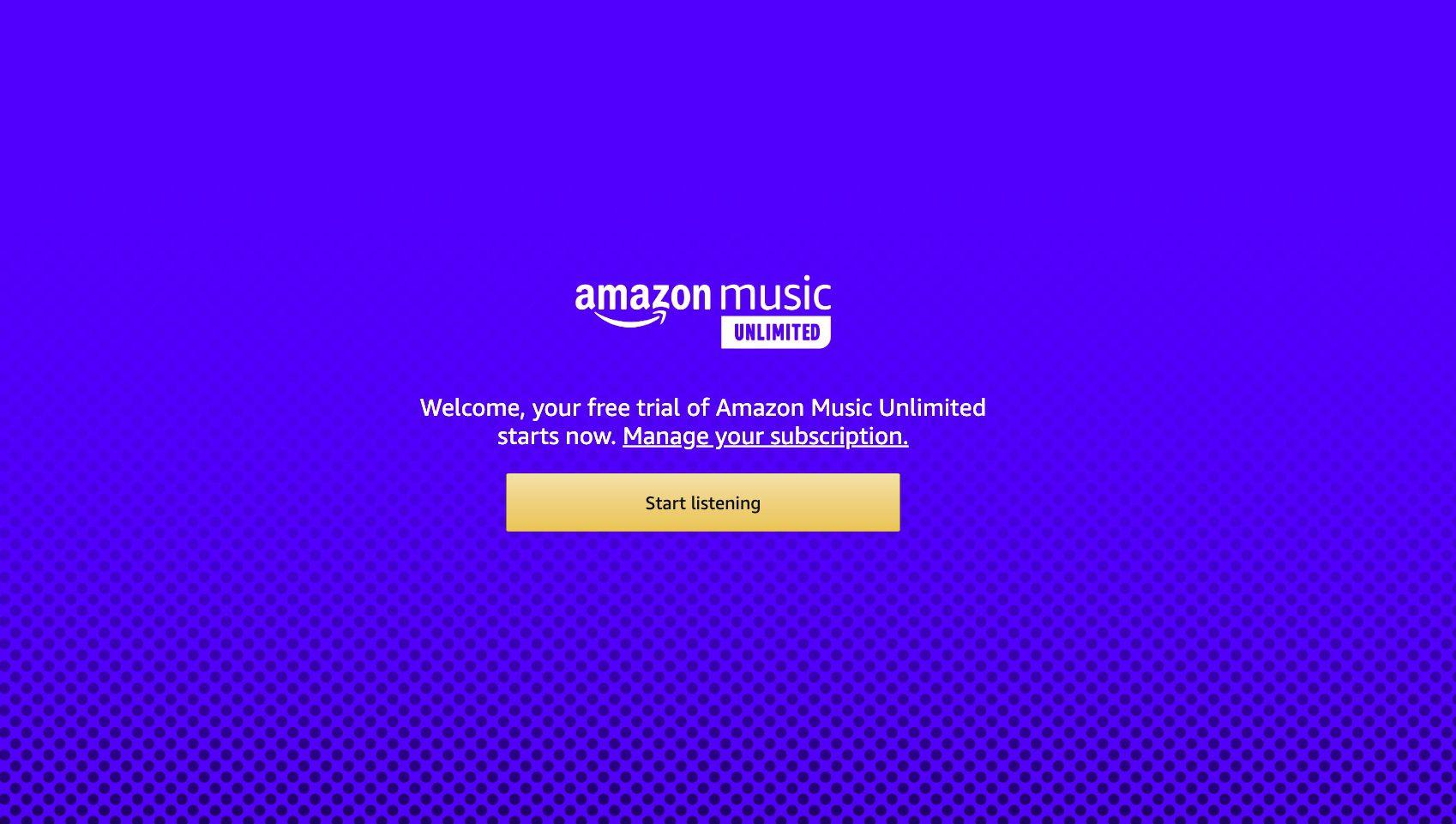 Amazon Music Unlimited website