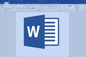 The splashscreen for Microsoft Word