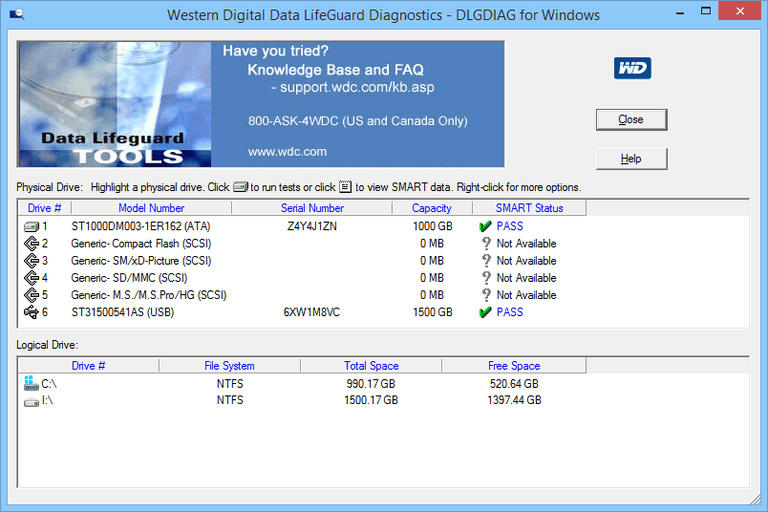 Western Digital Data LifeGuard Diagnostic Tool Review