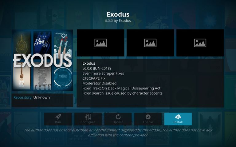Install Exodus on Kodi for Android